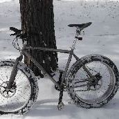 Titanium fat bike photo