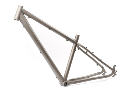 hybrid titanium bicycle frame